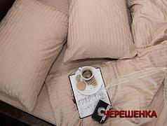 Двуспальный набор постельного белья 180*220 из Страйп Сатина №541209 KRISPOL™