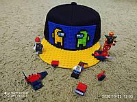 Кепка Лего Амонг Ас (Lego-Among Us Cap), бейсболка - конструктор
