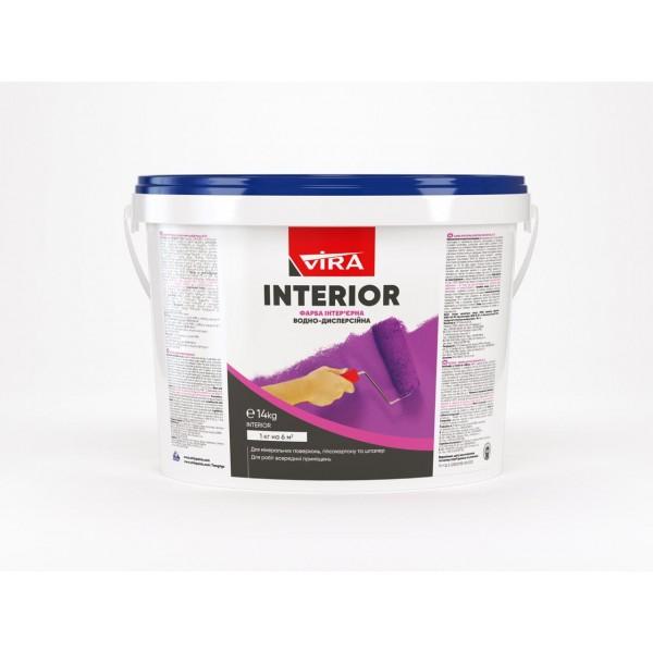 SI-27-14кг Vira interior- Краска интерьерная акриловая для стен и потолков, эконом