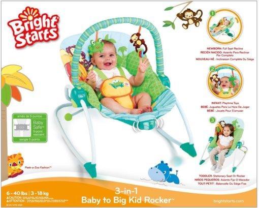 Кресло-качалка Bright Starts Сны в саванне (примятая упаковка)