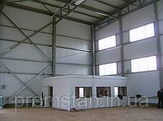 Монтаж быстромонтируемых каркасных зданий БМЗ из профнастила (холодное здание), фото 3