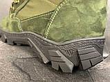 Зимние ботинки, берцы (тактическая обувь, зима. Натуральна замша, з хутром. Темно-зеленые), фото 7