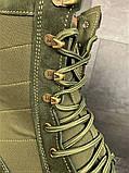 Зимние ботинки, берцы (тактическая обувь, зима. Натуральна замша, з хутром. Темно-зеленые), фото 8