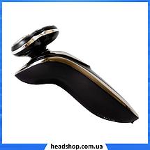 Електробритва Gemei GM-7719 - професійна, безпровідна, потужна чоловіча бритва з плаваючими головками, фото 3