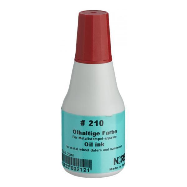 Штемпельна фарба швидковисихаюча на олійній основі 25 мл (красная), Noris 210