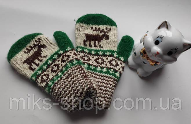 Варежки рукавиці 100 % шерсть на 2-4 р, фото 2