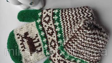 Варежки рукавиці 100 % шерсть на 2-4 р, фото 3