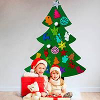 Ёлочка из фетра новогодняя, 26 игрушек