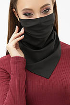 Жіноча чорна маска хустку з на гумці