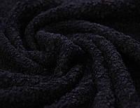 Трикотаж болгарский буклированый смесовый темно синего цвета AN 9