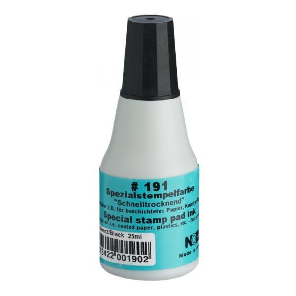 Штемпельная краска быстросохнущая на спиртовой основе 25 мл (черная), Noris 191