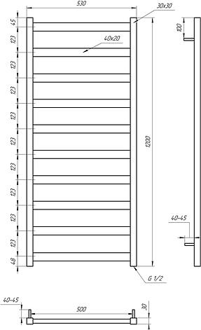 Электрический полотенцесушитель Genesis-Aqua Maxi 120x53 см, фото 2