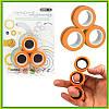 Спиннер магнитный 3 кольца, Магнитные кольца диаметр 1.9 см, Оранжевый спиннер