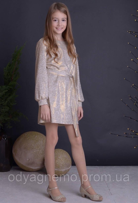 Платье для девочек, 128-164 рр.Артикул: AS5422-золото