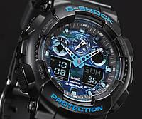 Часы G-SHOCK-3 Черно-синие | Мужские наручные часы | Касио часы мужские