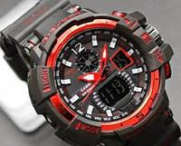 Часы G-SHOCK-3 Черно-красные | Мужские наручные часы | Касио часы мужские
