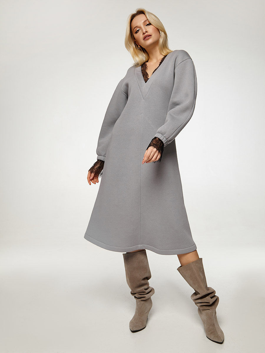 2567 платье Паулина, серый (S)