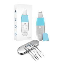 Набор: Ультразвуковой скрабер  для лица MEDICA+ VibroScin 8.0 (ЯПОНИЯ) + Инструменты для чистки лица EASYCLEAN