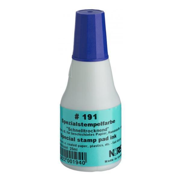 Штемпельная краска быстросохнущая на спиртовой основе 25 мл (фиолетовая), Noris 191