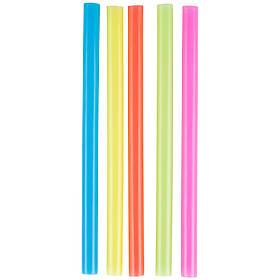 Соломка для коктейлів товста - кольорова 25 см, 500 шт.