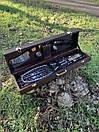 """Набір шампурів для барбекю """"Ведмідь"""" з нержавіючої сталі в дерев'яній коробці, фото 4"""