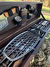 """Набір шампурів для барбекю """"Ведмідь"""" з нержавіючої сталі в дерев'яній коробці, фото 6"""