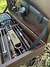 """Набір шампурів для барбекю """"Ведмідь"""" з нержавіючої сталі в дерев'яній коробці, фото 7"""