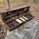 """Набір шампурів для барбекю """"Тигр"""" з нержавіючої сталі в дерев'яній коробці, фото 2"""