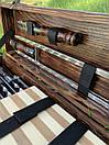 """Набір шампурів для барбекю """"Тигр"""" з нержавіючої сталі в дерев'яній коробці, фото 6"""