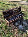 """Набор шампуров для барбекю """"Леопард"""" из нержавеющей стали в деревянной коробке, фото 2"""