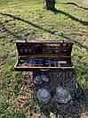 """Набор шампуров для барбекю """"Леопард"""" из нержавеющей стали в деревянной коробке, фото 3"""