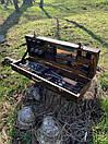 """Набор шампуров для барбекю """"Леопард"""" из нержавеющей стали в деревянной коробке, фото 6"""