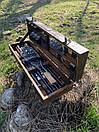 """Набор шампуров для барбекю """"Леопард"""" из нержавеющей стали в деревянной коробке, фото 8"""