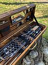 """Набор шампуров для барбекю """"Леопард"""" из нержавеющей стали в деревянной коробке, фото 9"""