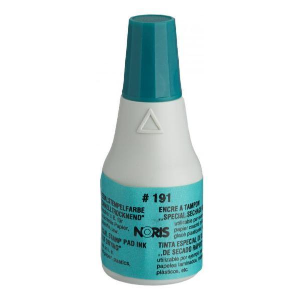 Штемпельная краска быстросохнущая на спиртовой основе 25 мл (зелёная), Noris 191