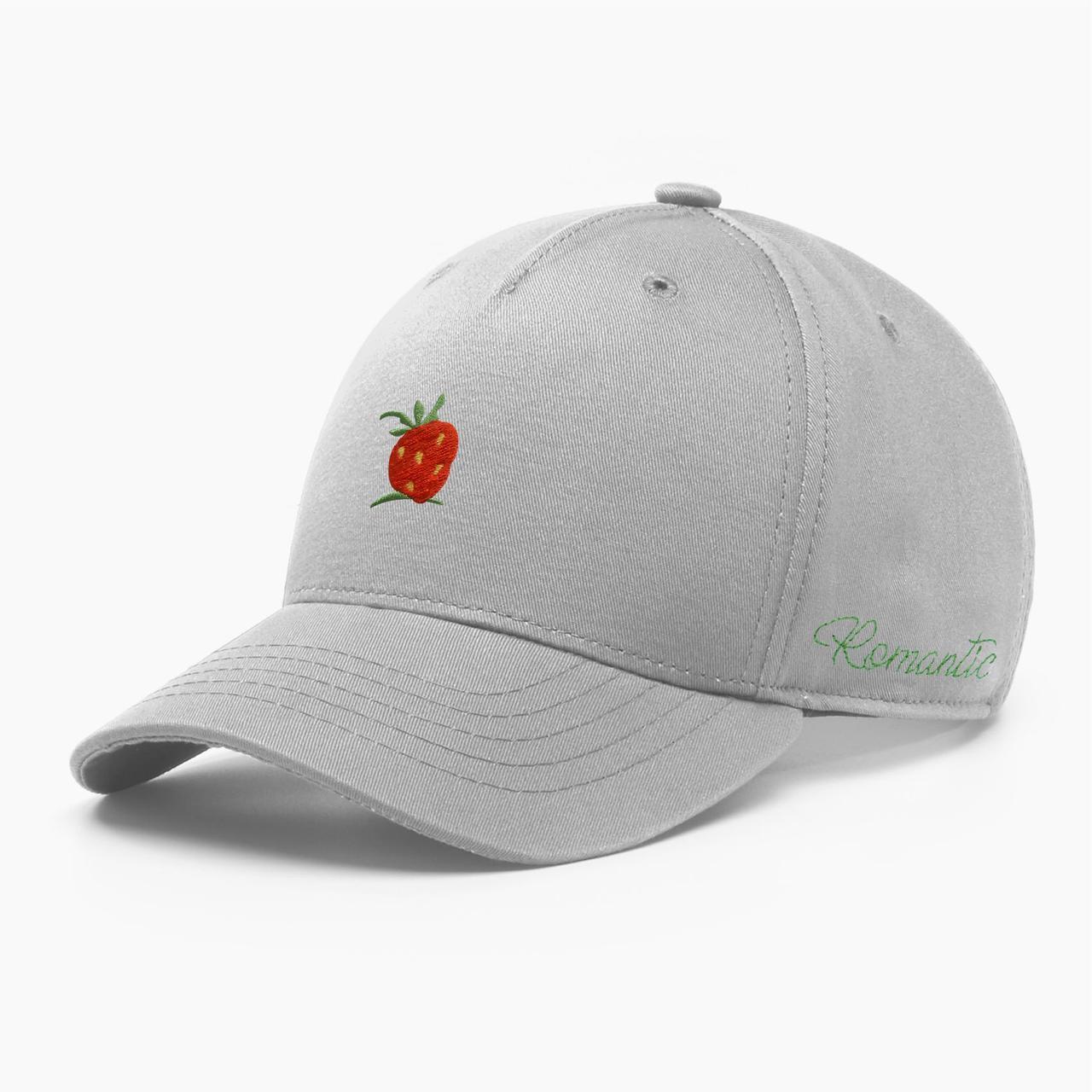Женская кепка бейсболка INAL strawberry S / 53-54 RU Серый 284253