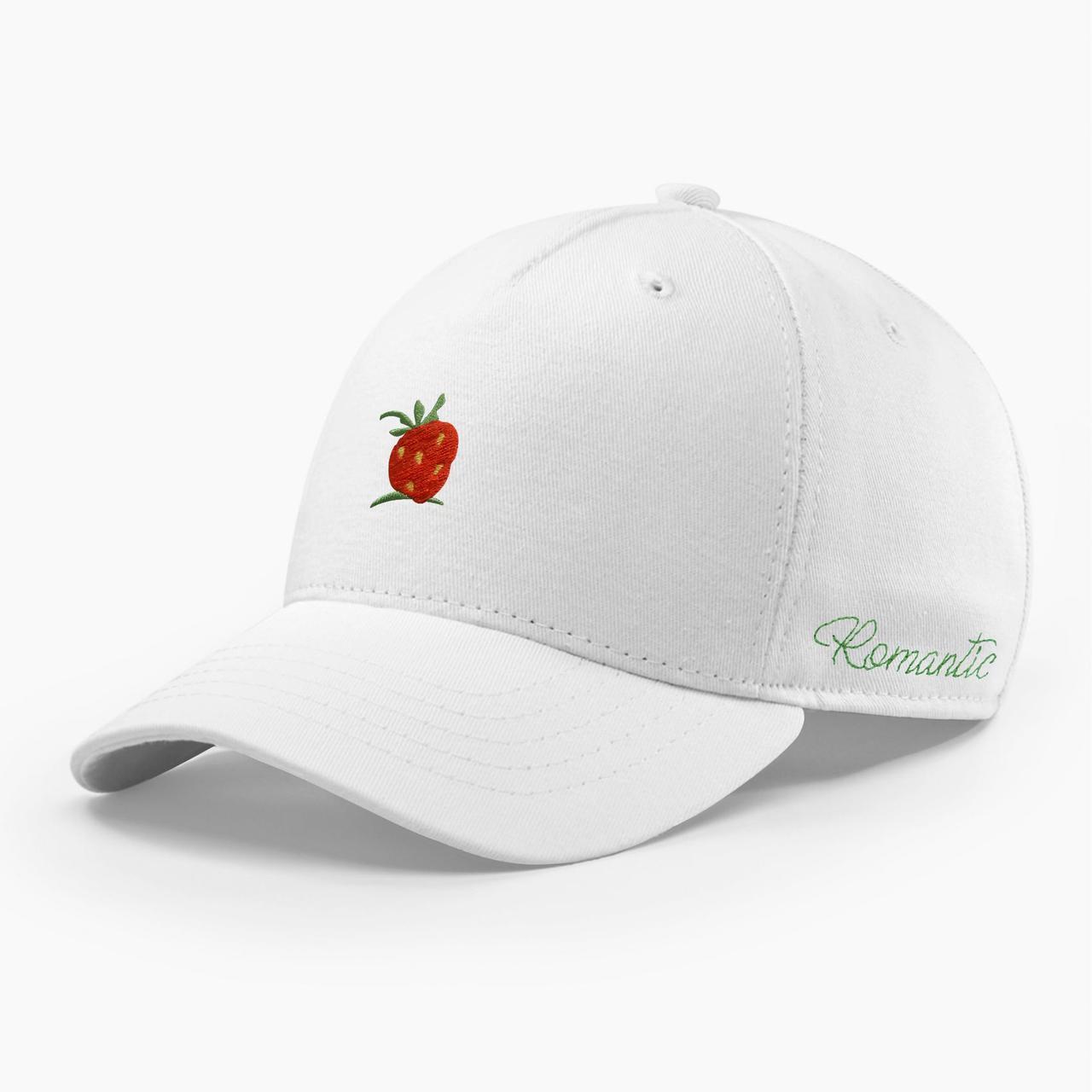 Женская кепка бейсболка INAL strawberry S / 53-54 RU Белый 284853