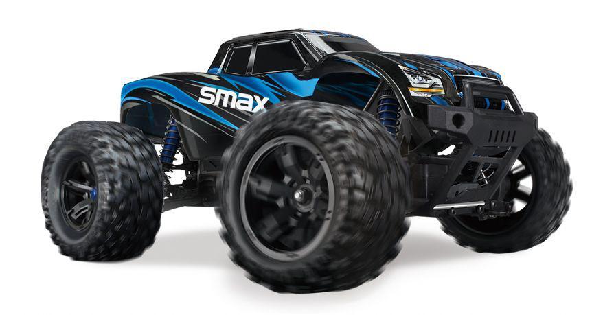 """Полноприводной Монстр """"S Max"""" на бесколлекторной системе Remo Hobby RH1635 4WD RTR (синий) 60 км/час"""