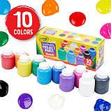 Crayola набор смываемых красок гуашь 10 классических цветов Washable Kids Paint Set 10 Count, фото 2