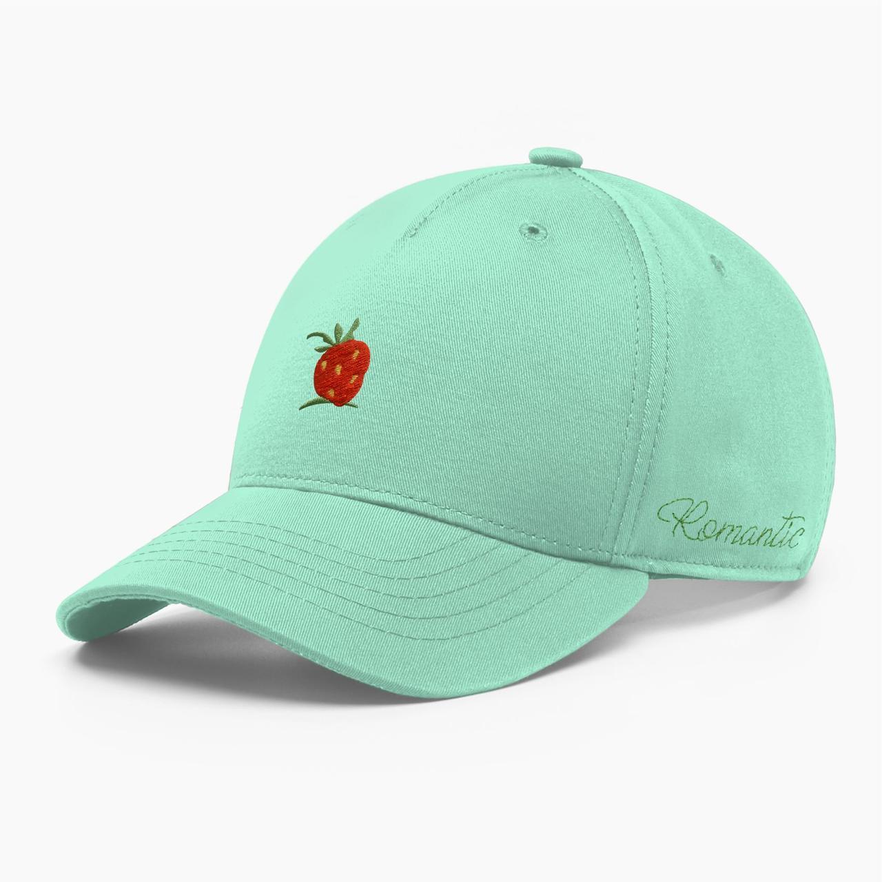 Женская кепка бейсболка INAL strawberry S / 53-54 RU Зеленый 285153