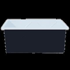 Пластиковый контейнер на 1500 л двухслойный черный