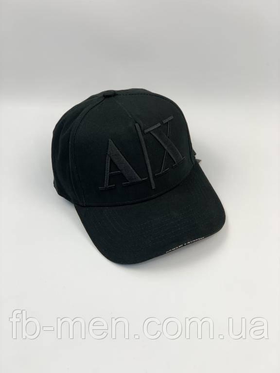 Черная кепка Armani классическая| Мужская женская кепка Армани черная
