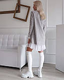 Платье женское Ангора травка серый, чёрный, бежевый, фото 6