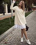 Платье женское Ангора травка серый, чёрный, бежевый, фото 9