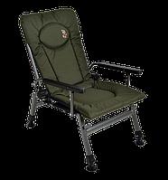 Кресло карповое рыбацкое Elektrostatyk F5R с подлокотниками и регулируемой спинкой
