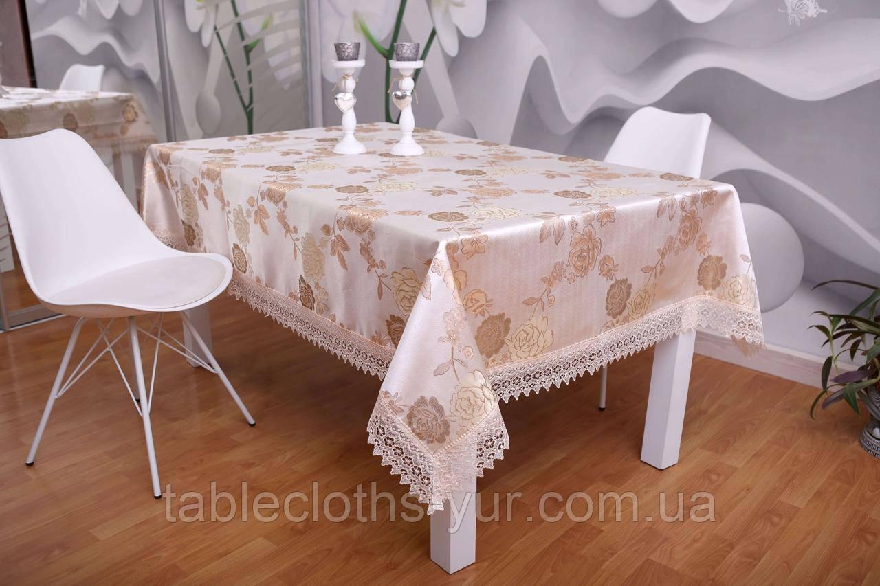 Скатерть Праздничная Роза 3D 120-152
