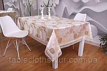 Скатерть на праздничный стол Роза 3D 120-152 Праздничная