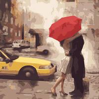 """Картина по номерам """"Любовь в Нью-Йорке"""""""