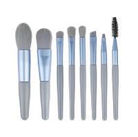 Набор кистей для макияжа 8 шт Mini синие, фото 1