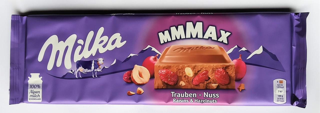 Молочний шоколад Milka Trauben-Nuss, 270г